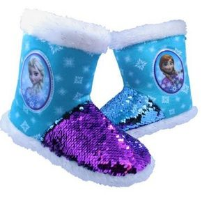 Frozen bootie slippers